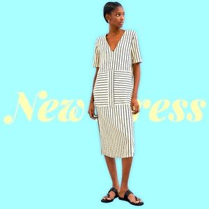 ZARA Striped Long Dress